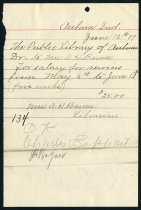 Image of A.H. Barnes Salary Invoice - Charles Eckhart & W. H. McIntosh Collection