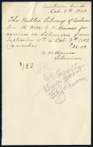 Image of A.H. Barnes' Salary - Charles Eckhart & W. H. McIntosh Collection