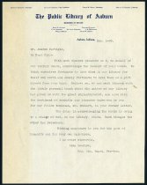 Image of Letter from Lida Leasure to Andrew Carnegie - Charles Eckhart & W. H. McIntosh Collection