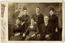 Image of Tin Type Style Picture of Unidentified Men and Women. -