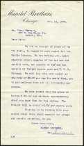 Image of Correspondence between Mandel Brothers of Chicago, Illinois and Charles Eckhart - Charles Eckhart & W. H. McIntosh Collection