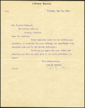Image of Letter from W.E. Lewis of the Library Bureau to Charles Eckhart care of the Public Library, Auburn, Indiana - Charles Eckhart & W. H. McIntosh Collection
