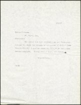 Image of Letters from Charles Eckhart to Keller and Braun of Fort Wayne, Indiana - Charles Eckhart & W. H. McIntosh Collection