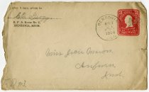 Image of An Envelope Addressed to Miss Jocie Mason From C. E. Grogg. -