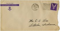 Image of Envelope Addressed to Mrs. O. a. Wise Postmarked Cedar Rapids, Iowa. -