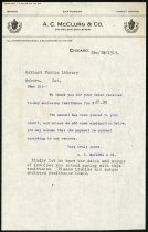 Image of Letter from A.C. McClurg and Company - Charles Eckhart & W. H. McIntosh Collection