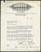 Image of Letter from White, The Magazine Bargain Man  - Charles Eckhart & W. H. McIntosh Collection