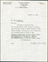 Image of Letter from Grant C. Miller of Patton and Miller to Charles Eckhart  - Charles Eckhart & W. H. McIntosh Collection