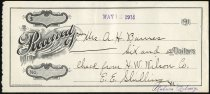 Image of Check to A.H. Barnes - Charles Eckhart & W. H. McIntosh Collection