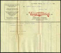 Image of Invoice from Wagenvoord and Company - Charles Eckhart & W. H. McIntosh Collection