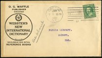Image of Envelope from O.G. Waffle - Charles Eckhart & W. H. McIntosh Collection