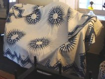 Image of Sun Star Quilt (Mariners Compass variation) 2007.049.001