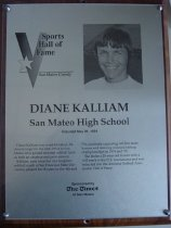 Image of Diane Kalliam SMC Sports Hall of Fame Plaque