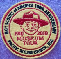 Image of BSA 1910-2010 Museum Tour Patch 2010.089.001