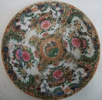 Image of Holbrook-Palmer Rose Canton Saucer, mid-19th century