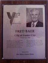 Image of Fred Baer Sports Hall of Fame plaque