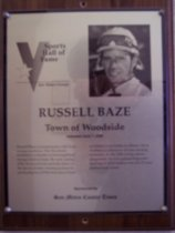 Image of Russell Baze Sports Hall of Fame plaque