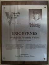 Image of Eric Byrnes Sports Hall of Fame plaque