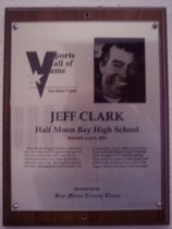 Image of Jeff Clark Sports Hall of Fame plaque