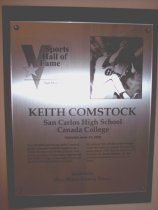 Image of Keith Comstock Sports Hall of Fame Plaque