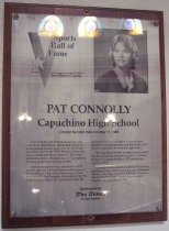 Image of Pat Connoly Sports Hall of Fame Plaque