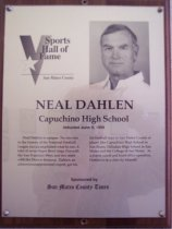 Image of Neal Dahlen Sports Hall of Fame plaques