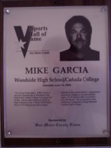 Image of Mike Garcia Sports Hall of Fame plaque