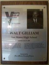Image of Walt Giliam Sports Hall of Fame plaque
