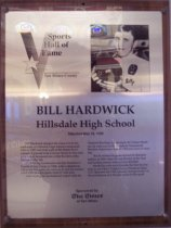Image of Bill Hardwick Sports Hall of Fame plaque