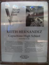 Image of Keith Hernandez Sports Hall of Fame plaque