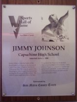 Image of Jimmy Johnson Sports Hall of Fame plaque