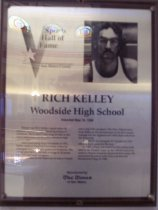 Image of Rich Kelley Sports Hall of Fame plaque