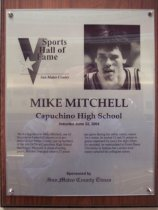 Image of Mike Mitchell Sports Hall of Fame plaque