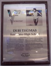 Image of Debi Thomas Sports Hall of Fame Plaques