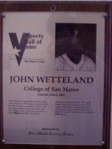 Image of John Wetteland Sports Hall of Fame plaque