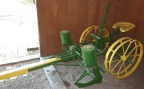 Image of John Deer 2 Row 2 Horse-drawn Seeder