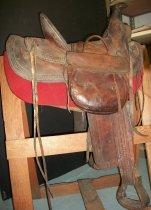 Image of Leather Riding Saddle
