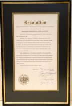 Image of 1965 Resolution Commemorating Frank M. Stanger