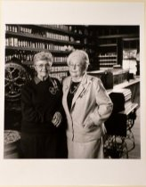 Image of 1994 Photograph of Marya Nill and Betty Snyder at the Woodside Store