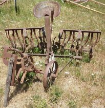 Image of Spade Harrow with Cart