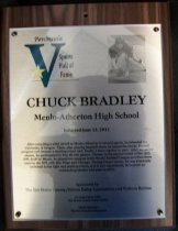Image of Chuck Bradley Peninsula Sports Hall of Fame Plaque
