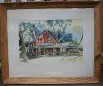 Image of 1950s Watercolor by Lillian Dixson