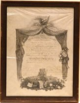 Image of Albert H Payson 1868 Diploma from West Point Military Academy