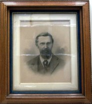 Image of 1889 Charcoal Portrait of Wm H Lawrence by G.E. Kelly