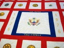 Image of 1977 50 State Bicentennial Quilt Detail