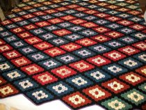 Image of Hand-pieced Octagon Quilt