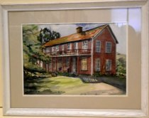 "Image of 1982 Edith Ford Water Color ""Fisherman's Hotel in Pescadero"""