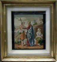 Image of Framed Religious Needlepoint from the Greer Family Estate