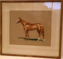 Image of Chalk Pastel Drawing of Horse by Thad Leland
