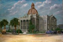 Image of San Mateo County Courthouse in Redwood City in the Early 1930s by John Luci